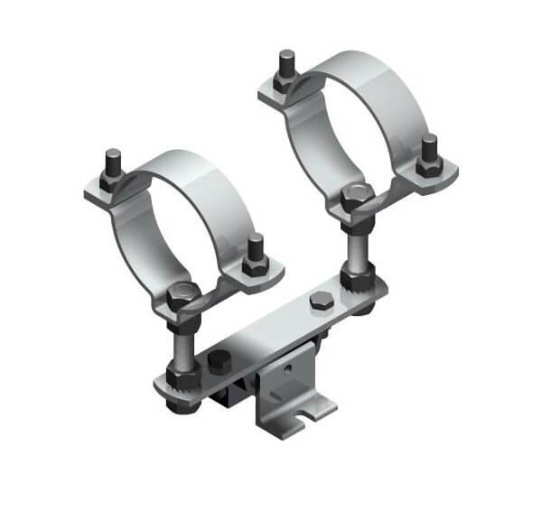 Fixed point pipe clamp Type 116 L-GW/LA-GW