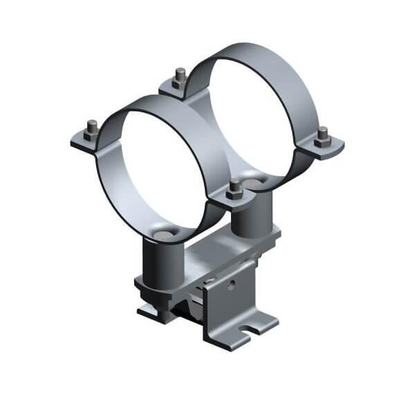Fixed point pipe clamp Type 116 LA/LA-2